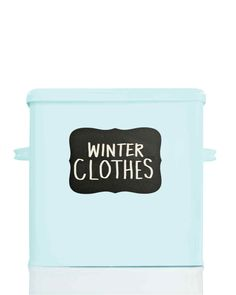 Warmer weather means it's time to make space for your spring wardrobe! Label your winter clothing storage boxes with our Martha Stewart Home Office chalkboard labels. Getting Rid Of Clutter, Getting Organized, Martha Stewart Home, Licht Box, Chalkboard Labels, Room Accessories, Storage Organization, Organization Ideas