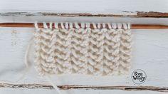 Cómo tejer ENCAJE en tres pasos (dos agujas)