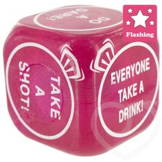 Flashing Hen party Dice by Hen Night HQ - Hen Night Dares for the best hen parties