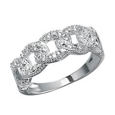 Sterling silver open link ring with sparkling CZs and a unique, interlocking pattern that represents stability in a relationship. Regularly $39.99, buy Avon Jewelry online at http://eseagren.avonrepresentative.com