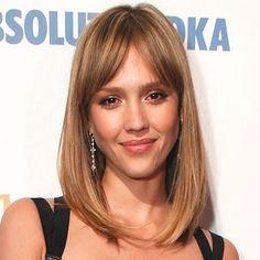 Jessica Alba Fringe Hair Trend