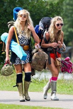 What music festival packing looks like