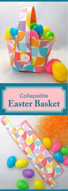 Easter baskets are so much fun to collect, but they take up tons of storage space. Solution: the collapsible Easter basket.