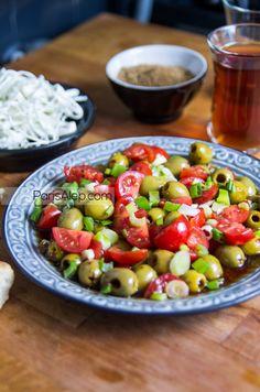 Salade d'olives à la Syrienne | Paris-Alep (cuisine syrienne)