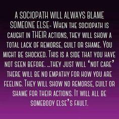 A sociopath..