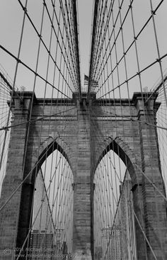 Classic New  York  Brooklyn Bridge