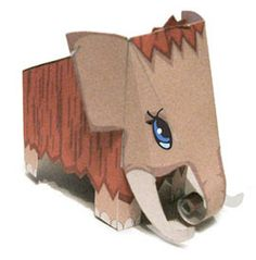 Paperized: Cute Mammoth Paper Toy