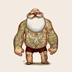 Day 14: Santa ist tätowiert - Advent Calendar from the Crypt - http://www.dravenstales.ch/day-14-santa-ist-taetowiert-advent-calendar-from-the-crypt/