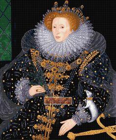 Elizabeth I, Ermine Portrait by Nicholas Hilliard. September birth of Queen Elizabeth I. Elizabeth I, Elizabeth Bathory, Anne Boleyn, Elizabethan Fashion, Elizabethan Era, Style International, Isabel I, Marie Stuart, Tudor Dynasty