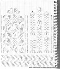 Knitted Mittens Pattern, Fair Isle Knitting Patterns, Knit Mittens, Knitting Charts, Knitting Socks, Knitting Needles, Filet Crochet Charts, Crochet Stitches, Crochet Patterns