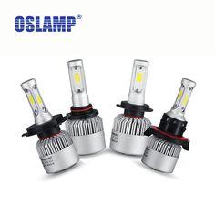 Oslamp Salut-Lo/Faisceau Unique COB Puces LED Kits De Phare De Voiture Auto Led Head Light Ampoules SUV Brouillard Lampe H4 H7 H11 H13 9005/HB3 9006/HB4