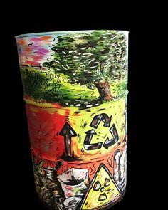 fusto di olio motore #riciclato come opera d'arte e complemento di ... - Arredamento Negozio Abbigliamento Yahoo