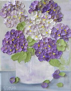 ORIGINAL OIL PAINTING Vintage Lavender by KenziesCottage on Etsy, $65.00