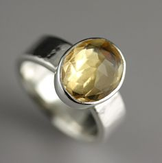 Brazilian Citrine Ring  Huge Stone Cocktail by SarahHoodJewelry, $280.00
