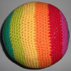 crochet rainbow ball pattern