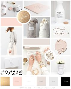 Color Inspiration Board we created for our client, Lucy Celebrates. This beautiful moodboard screams clean and elegant sophistication and we are completely in love with it! Web Design, Website Design, Blog Design, Layout Design, Instagram Feed Layout, Instagram Posts, Insta Layout, Instagram Ideas, Inspiration Boards