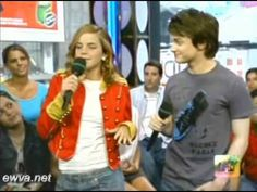 [HQ] Emma Watson and Daniel Radcliffe On Total Request Live [Part 1]