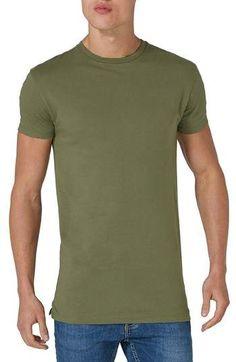 bf15ca635 Topman Longline T-Shirt Long A Line, Boxers, Crew Neck, Collar Pattern