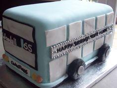 city bus birthday cake