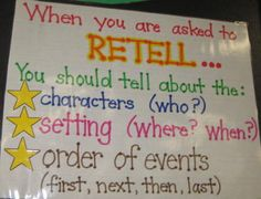 When you are asked to RETELL...