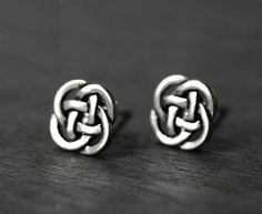 Celtic Earrings  Eternity Love Knot Studs by robinhoodcouture, $18.00  necklace, earrings, and belt!