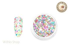 Mixed Color Crushed Shell Nail Art Decoration