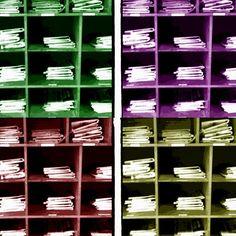 "@sandefjordbibliotek's photo: ""#mittbibliotek #sandefjordbibliotek #aviser #newspapers #farger"""