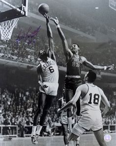 Bill Russell Boston Celtics Signed 16x20 B&W Wilt Block Photofile Photo JSA - Sports Integrity