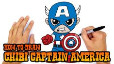 How to Draw Captain America (Chibi)- Kids Art Lesson