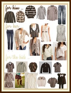 Jennifer Ellison Photography: What to wear for a family photo shoot? Fall Family Picture Outfits, Family Pictures What To Wear, Family Photo Colors, Family Portrait Outfits, Fall Family Pictures, Family Outfits, Family Pics, Family Portraits, Family Clothes