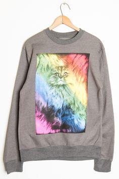 Rainbow Fur Kitty Sweatshirt