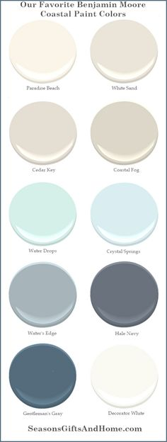 Proven paint colors that evoke the beauty of the coast. Choose a palette that reflects the colors of sand driftwood summer skies and ocean waters.