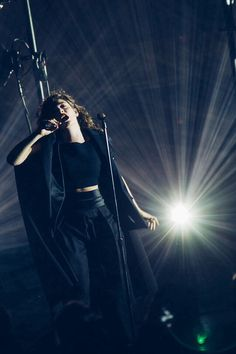 Lorde performing at the Mann Center in Philadelphia