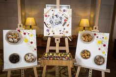 Inspired by the hotel's close links with the local art scene, Chefs at The Ritz-Carlton, Dubai International Financial Centre incorporate artist's easels into a unique interactive food display.