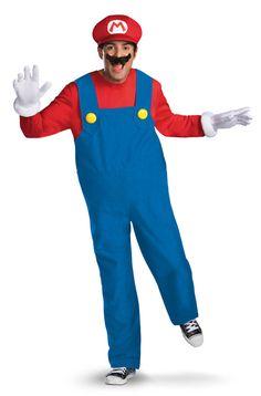 Super Mario Brothers Mario Adult Plus Costume