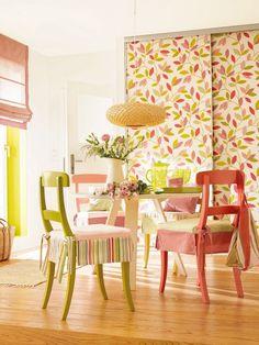 Der Sommer zieht ein: Raumgestaltung mit Farben und Mustern - wandgestaltung-1-einladend-h