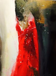 Red dress acrylic canvas by David Maestas‎