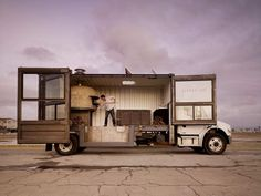 Pizza Del Popolo in San Francisco, California: This sexy, glass-walled mobile pizzeria slings slices from a 20ft container that's been mounted to the back of a delivery truck. And yes, that's an Italian-made, wood-fired oven inside.