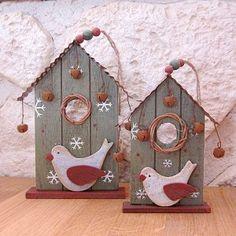Maisons d'oiseau en bois - vert