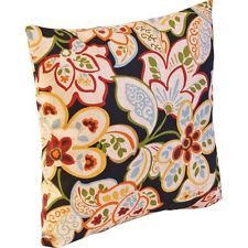 """This is probably one of my favorites for the front porch Adirondacks...16"""" Outdoor Toss Pillow Dorothee Ebony"""