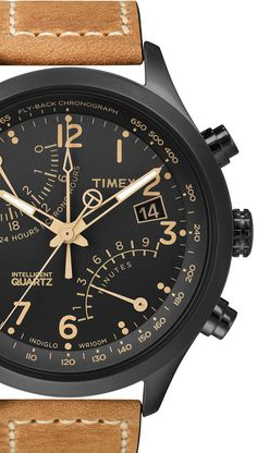 Racing fly-back chronograph with oiled leather strap, $150 available later this month, Timex I can't wait