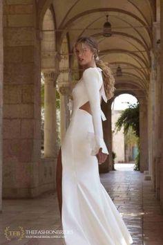 Berta Colony 2021 Bridal Collection – The FashionBrides Wedding Dress Types, Gorgeous Wedding Dress, Wedding Dress Sleeves, Dream Wedding Dresses, Designer Wedding Dresses, Bridal Dresses, Wedding Gowns, Girls Dresses, Bridal Gown