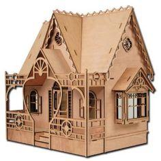 Very unusual laser cut Greenleaf dollhouse kit