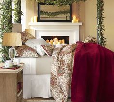 Great for Fall/Winter Charlie Paisley Organic Duvet Cover & Sham - Red | Pottery Barn
