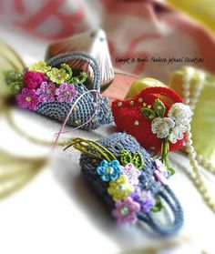Assorted mini bags keychains ..