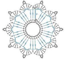 Bildergebnis für mandalas tejidos al crochet patrones Crochet Earrings Pattern, Crochet Snowflake Pattern, Crochet Leaves, Crochet Stars, Crochet Motifs, Crochet Snowflakes, Crochet Flower Patterns, Crochet Diagram, Crochet Round