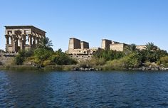 3-day itinerary showcasing the best of Cairo and what are the things you can accomplish in less than 1 week including a visit to Giza's gargantuan pyramids-View of the Philae temple on the Nile river, Aswan, Egypt