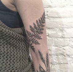 Fern tattoo by Anna Bravo (Instagram @anna_bravo_). More