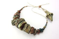 Artisan Ceramic BeadS Large collection rock pool blues green rust sea rock lichen black