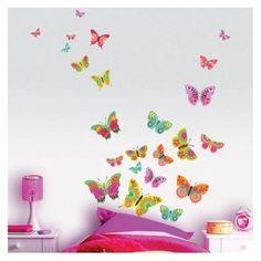 Stickers papillons multicouleurs CASELIO : prix, avis & notation, livraison.  Un beau stickers composé de 25 papillons multicouleurs pour une décoration rafraichissante, colorée et originale.Les papillons mesurent de 4.5x6.5cm à 20x29 cm.